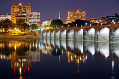 Harrisburg Pennsylvania at Night Royalty Free Stock Photos
