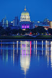 Harrisburg Pennsylvania at Night Stock Photography
