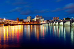 Harrisburg Pennsylvania at Sunset Royalty Free Stock Photo