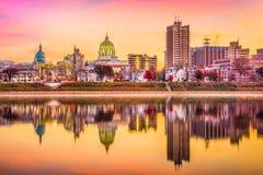 Harrisburg, Pennsylvania, USA Skyline Royalty Free Stock Photos