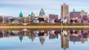 Harrisburg, Pennsylvania Skyline stock footage