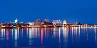 Harrisburg Pensilvania al tramonto fotografia stock