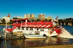 Harrisburg Riverboat Leaves Dock Stock Images