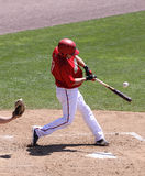 Harrisburg Senators Devin Ivany swings Royalty Free Stock Image