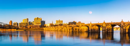 Harrisburg skyline and the historic Market Street Bridge Stock Photography