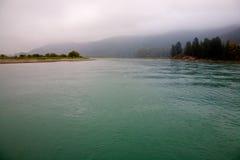 Harrison flod i British Columbia Arkivbilder