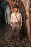 Harrison Ford as Indiana Jones in Grevin museum of the wax figures in Prague. Royalty Free Stock Image