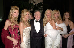 "Hugh Hefner. 17FEB2000:  ""Playboy"" creator HUGH HEFNER & Playmates at American Film Institute Life Achievement Award Salute to Harrison Ford.  Paul Smith / Stock Photography"