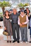Harrison Ford, Karen Allen, Steven Spielberg Stockbilder