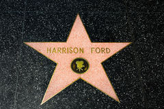 Harrison Ford Star on the Hollywood Walk of Fame Royalty Free Stock Images