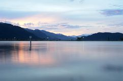 Harrison jezioro wieczorem Zdjęcie Stock