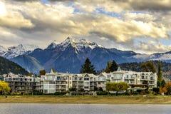 Harrison Lake and Coast Mountains near Harrison Hot Springs, BC, Stock Photo