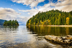 Harrison Lake and Harrison Hot Springs, British Columbia, Ca royalty free stock images