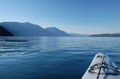 Harrison Lake. Kayaking in the morning on Harrison Lake, July 1, 2013, BC, Canada Royalty Free Stock Image