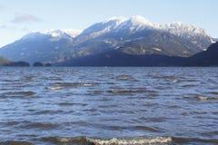 Harrison Lake and Mount Breakenridge Stock Image