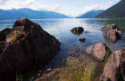 Harrison Lake stock photo
