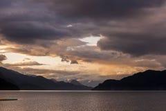 Harrison Lake Sunset Royalty Free Stock Photo