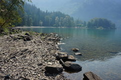 Harrison Lake. A view of the beach and water at Harrison Lake, BC Stock Photography