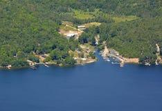 Harrison Landing Marina aerial Stock Photos