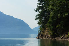 Harrison. A view of Harrison Lake from Sasquatch Park Royalty Free Stock Photo