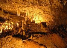 The Harrisons Caves. The magical Harrisons caves in Barbados stock photography