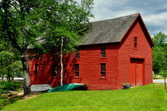 Harrisville, NH:  Red Boathouse Stock Photography
