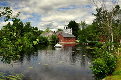 Harrisville, NH: View Over Harrisville Pond To The Village Royalty Free Stock Image