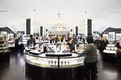 Harrods百货商店内部,香料厂在伦敦 库存图片