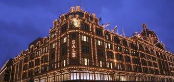 harrods Λονδίνο Στοκ φωτογραφία με δικαίωμα ελεύθερης χρήσης
