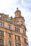 Harrods, роскошный универмаг на дороге Brompton, Лондоне, Великобритании Стоковое Фото