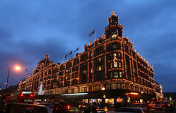 Harrods at Christmas Stock Photos