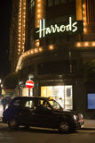 Harrods department store and taxi Royalty Free Stock Photo