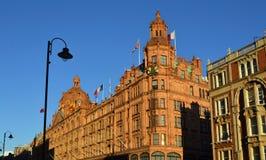 Harrods fasad royaltyfria foton