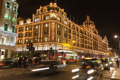 Harrods in Knightsbridge at Christmas Stock Images