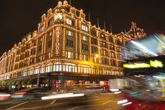 Harrods in Knightsbridge at Christmas Stock Photography