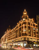 Harrods lit up for Christmas Stock Photos