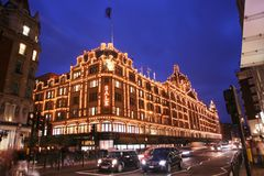 Harrods in Londen Stock Foto's