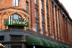 Harrods, london. The world famous Harrod's department store in London, England Royalty Free Stock Images