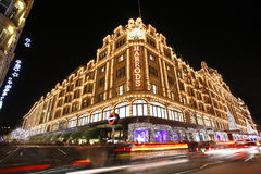 Harrods, luksusowy wydziałowy sklep Obraz Royalty Free