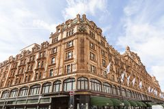 Free Harrods , Luxury Department Store On Brompton Road, London, United Kingdom Royalty Free Stock Photos - 114258208