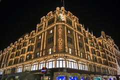 Harrods at night Royalty Free Stock Photo