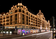 Harrods night Royalty Free Stock Photos