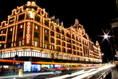 Harrods noc widok Obraz Royalty Free