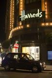 Harrods taxi i Zdjęcie Royalty Free