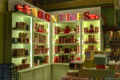 Harrods Valentines Day corner Stock Images