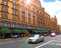 Harrodsopslag in Knightsbridge Londen Royalty-vrije Stock Fotografie