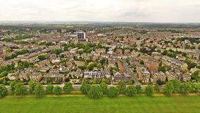 Harrogate Victorian Town In Yorkshire Long Range Sky View Arial Shot Royalty Free Stock Photos