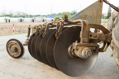 Harrow Disc Plow. The Old Harrow Disc Plow Royalty Free Stock Image