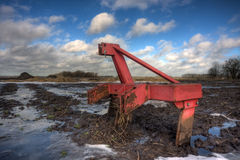 Harrow in mud Royalty Free Stock Image