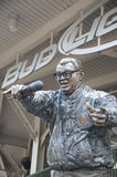Harry Caray Statue Stock Afbeelding
